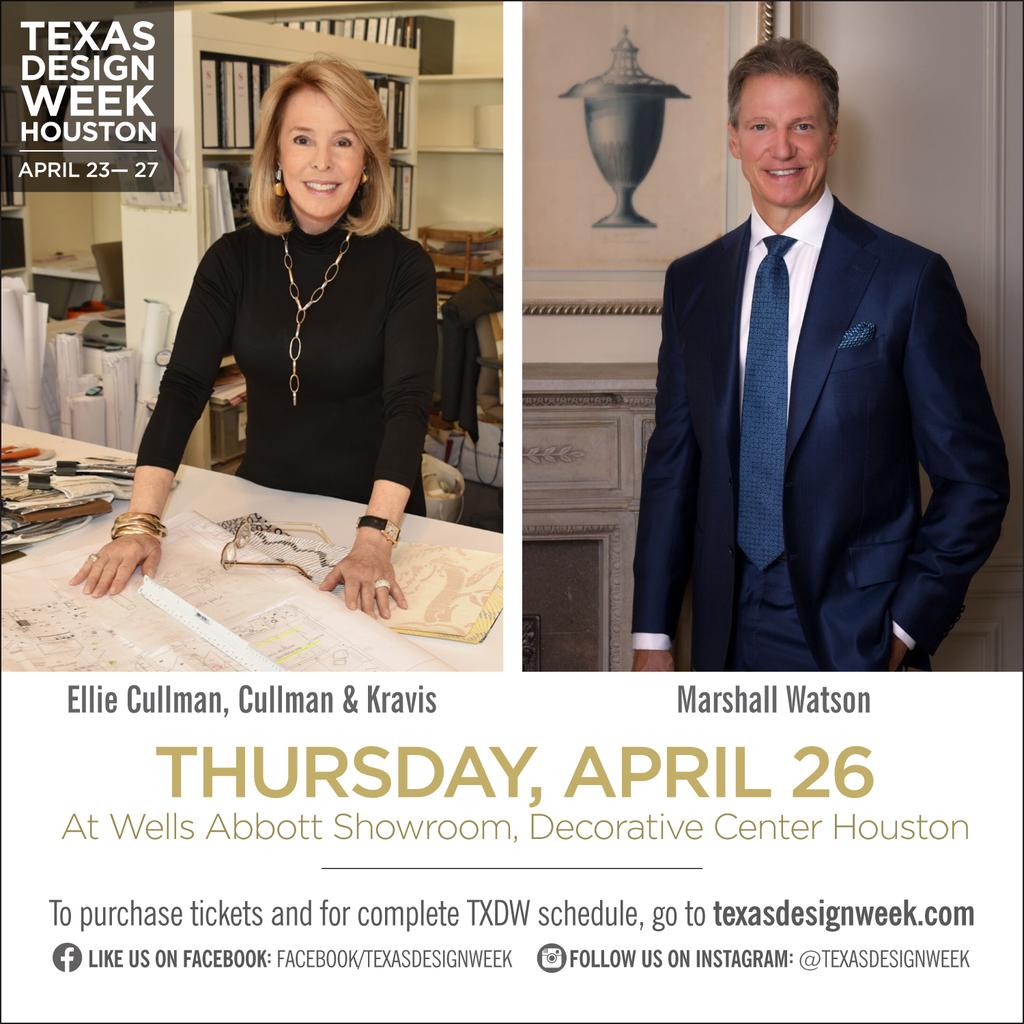 Texas Design Week Panel featuring Marshall Watson and Kate Reid