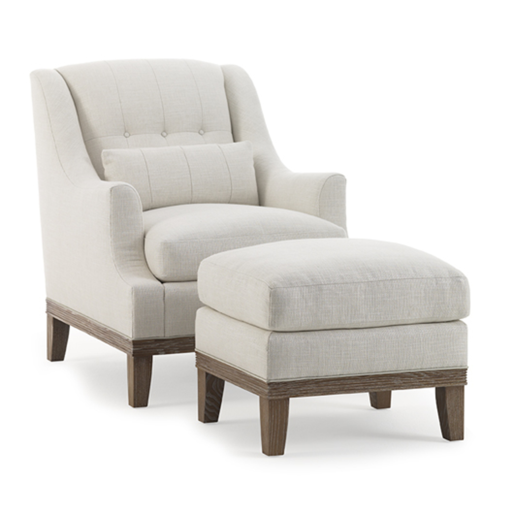 Pitcher Chair Grid Back and Ottoman