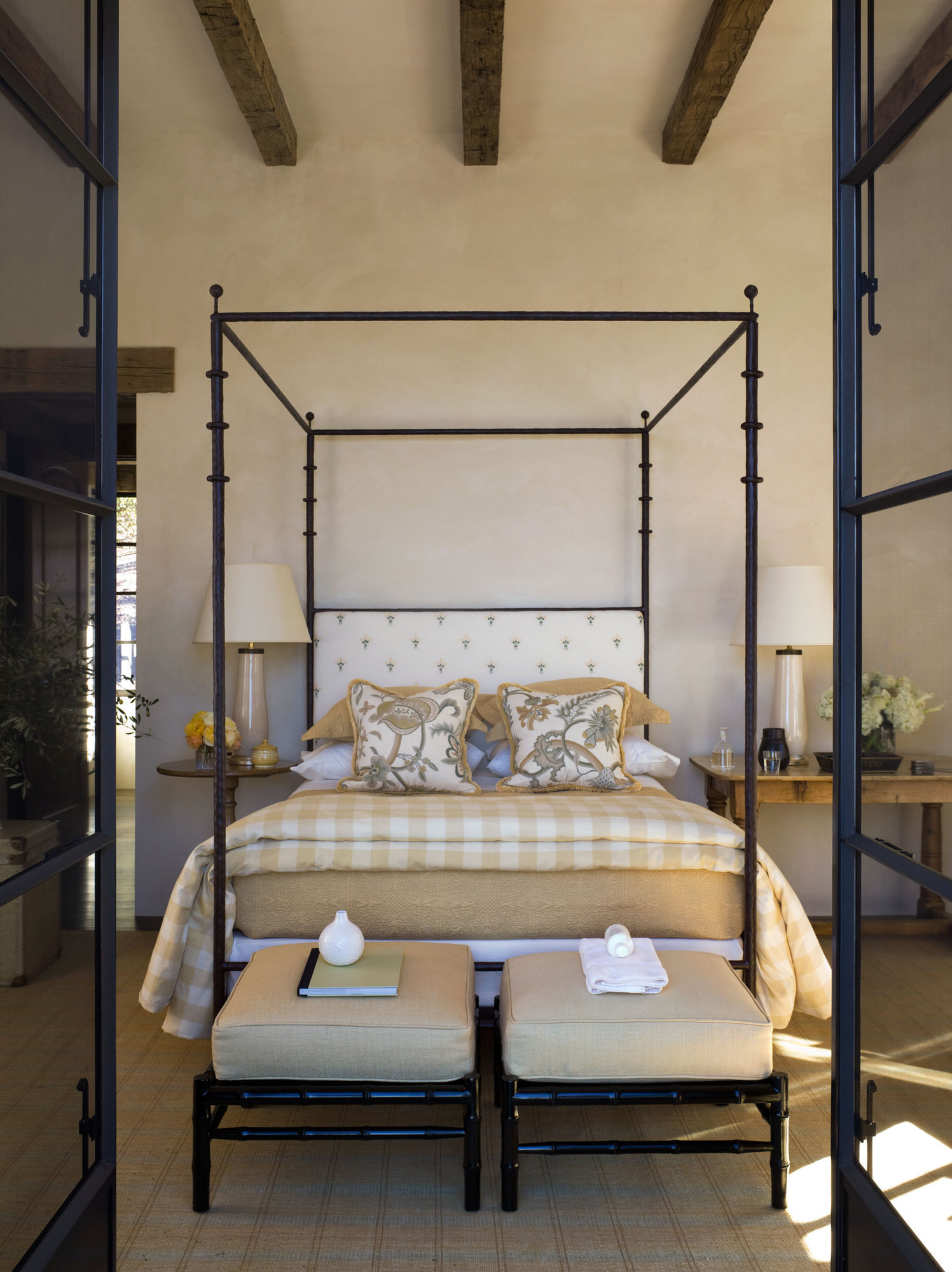 Napa Valley, California bedroom design