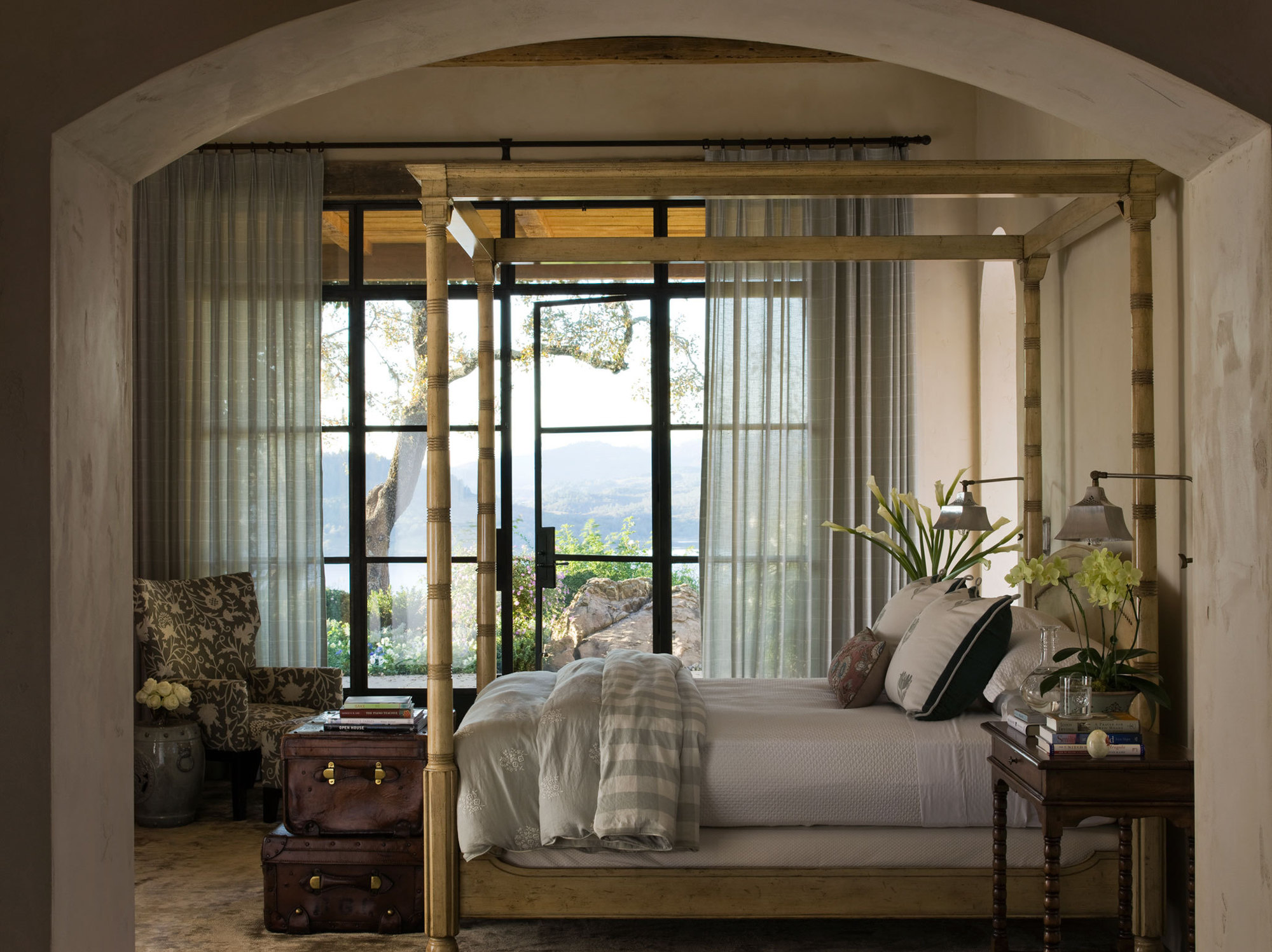 Napa Valley, California bedroom interior