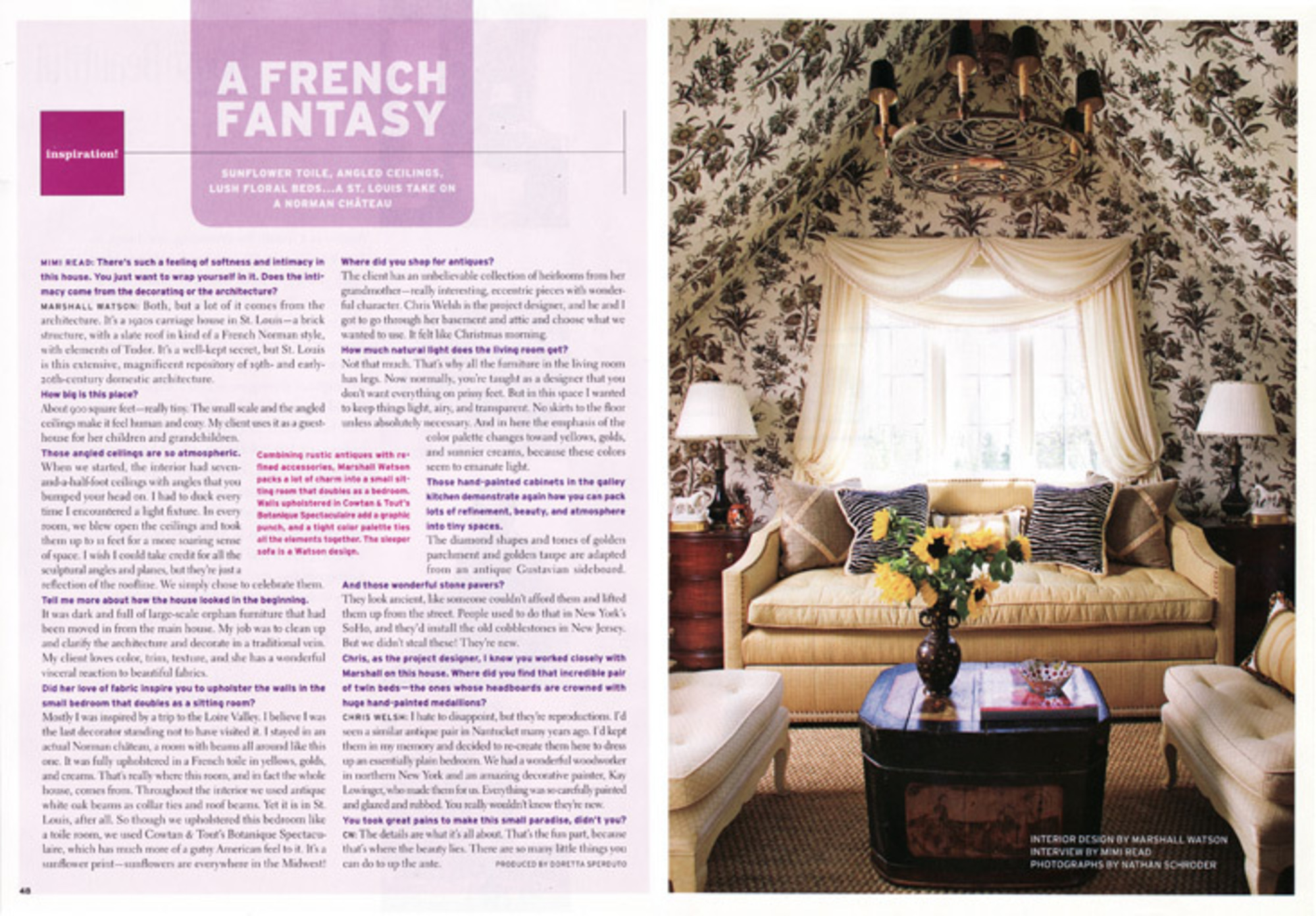 Marshall Watson Interiors - House Beautiful: Inspiration Issue