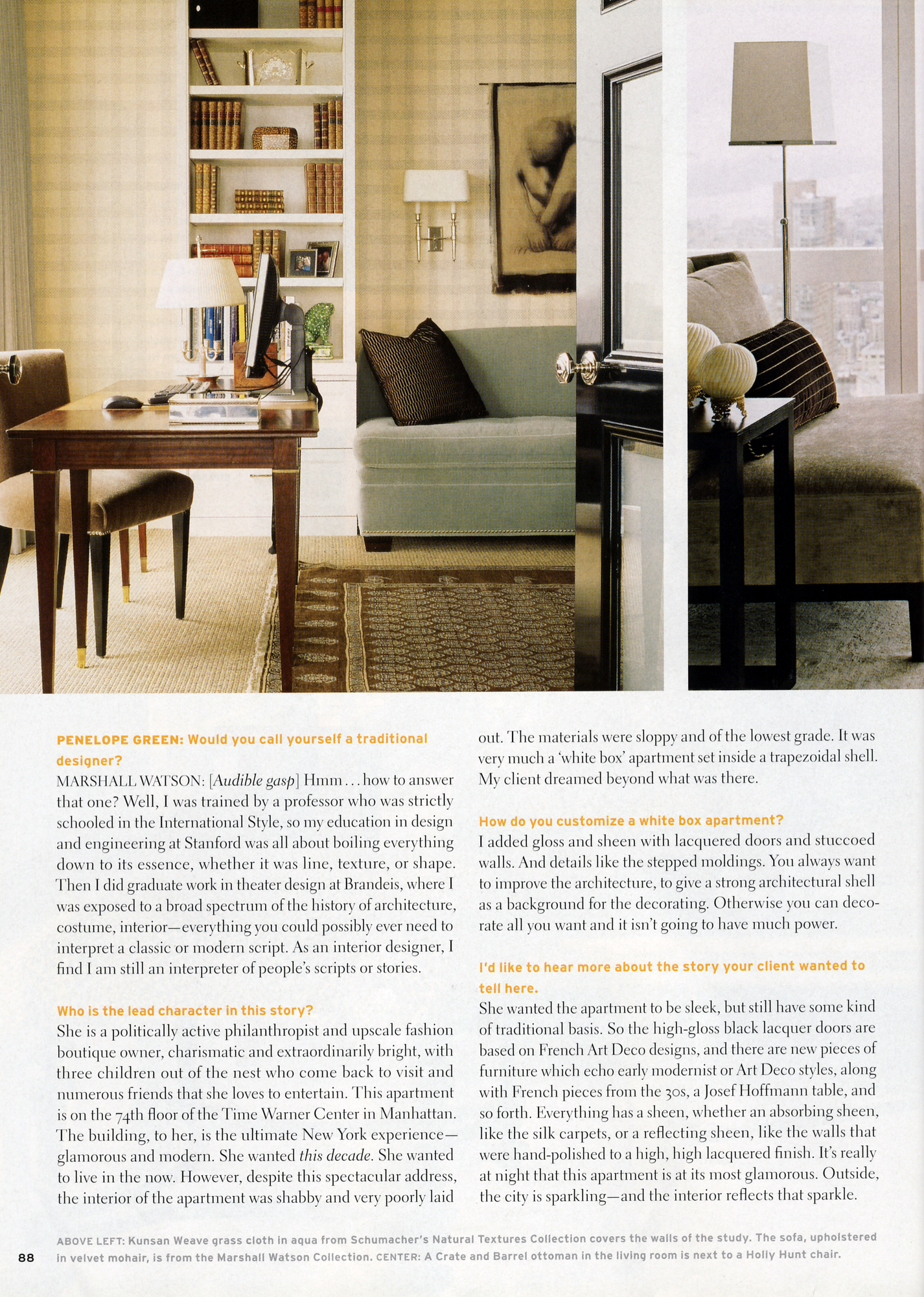 2007/04 House Beautiful Article