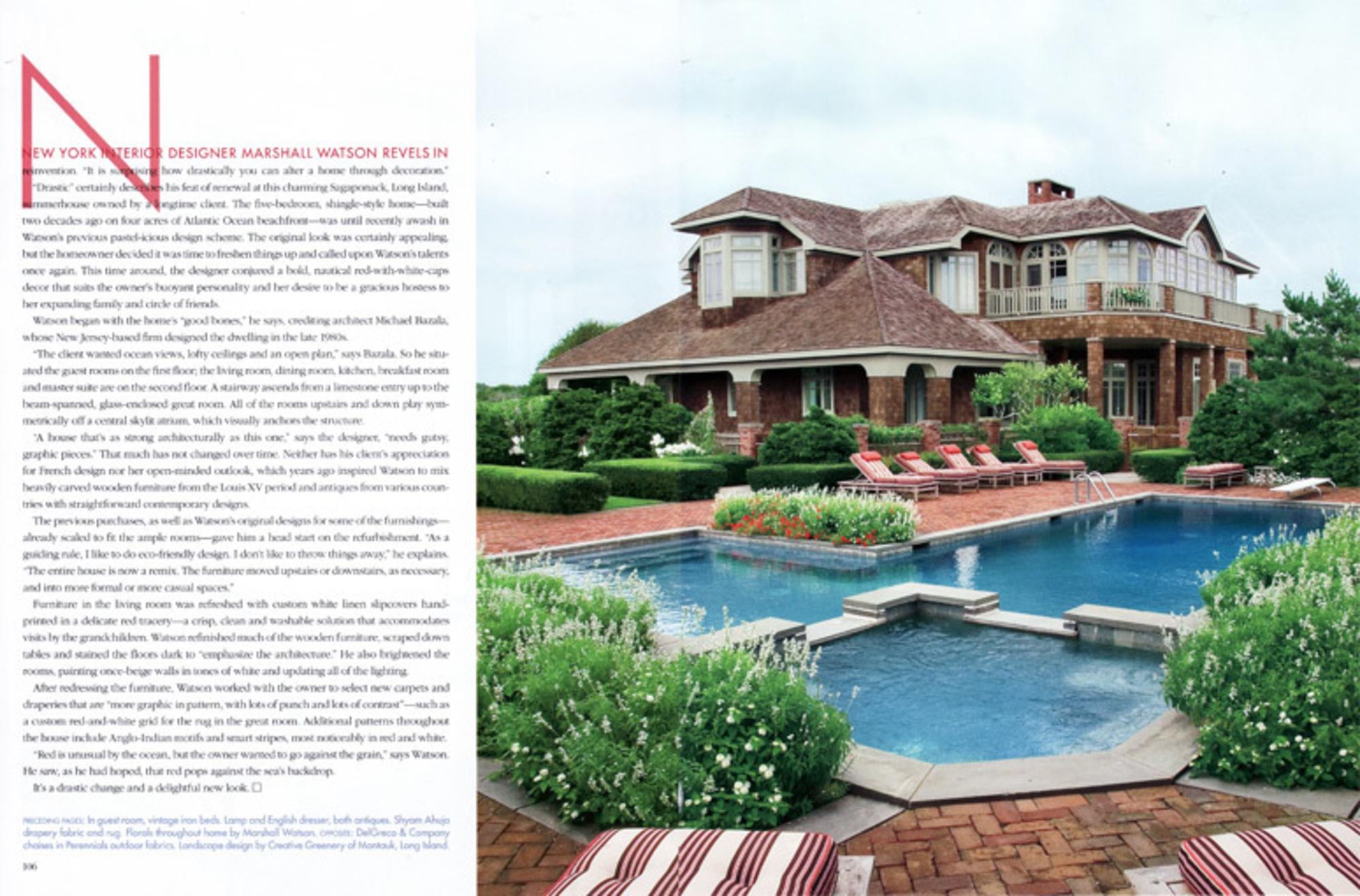 2009/07 Veranda Article Spread
